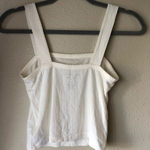 American Eagle Outfitters Tops - Straight ribbed tank top
